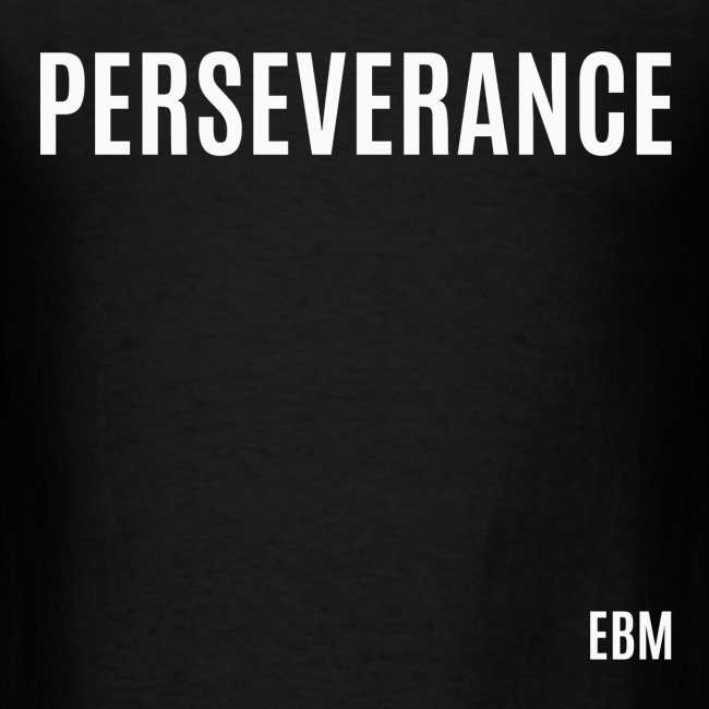 Empowered Black Male T shirts by Lahart | PERSEVERANCE Black Male