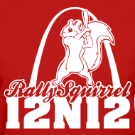 Design ~ Cardinals Rally Squirrel - 12 in 12 Women Tee Shirt