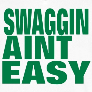 SWAGGIN AINT EASY T-Shirts - Men's V-Neck T-Shirt by Canvas