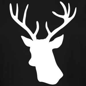 White Stag Deer Head T-Shirts - Men's Tall T-Shirt
