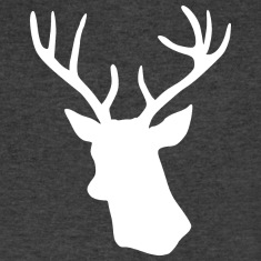 White Stag Deer Head T-Shirts