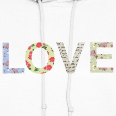 Shabby Chic Love Typography Hoodies