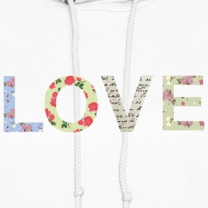 Shabby Chic Love Typography Hoodies - Women's Hoodie