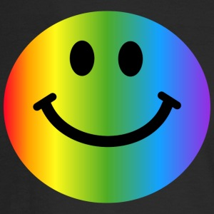 Rainbow Smiley Face Long Sleeve Shirts - Men's Long Sleeve T-Shirt