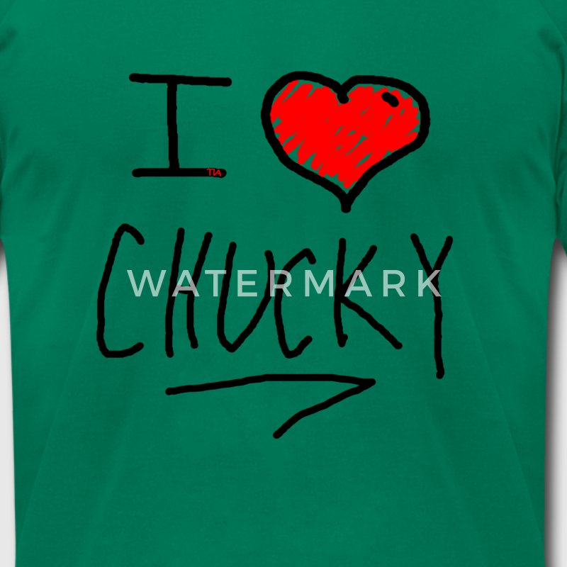i love chucky - Men's T-Shirt by American Apparel