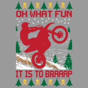 Ugly Christmas Dirt Bike