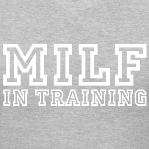 milf in training Women's T-Shirts - Women's V-Neck T-Shirt