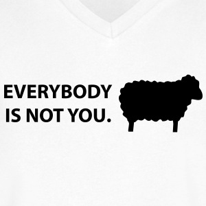 black sheep sarcasm T-Shirts - Men's V-Neck T-Shirt by Canvas