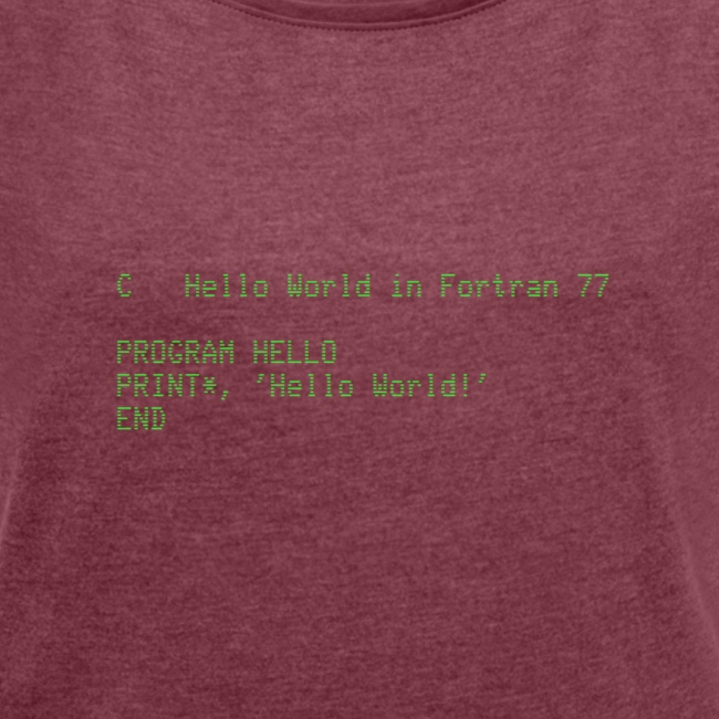 Hello World - Fortran