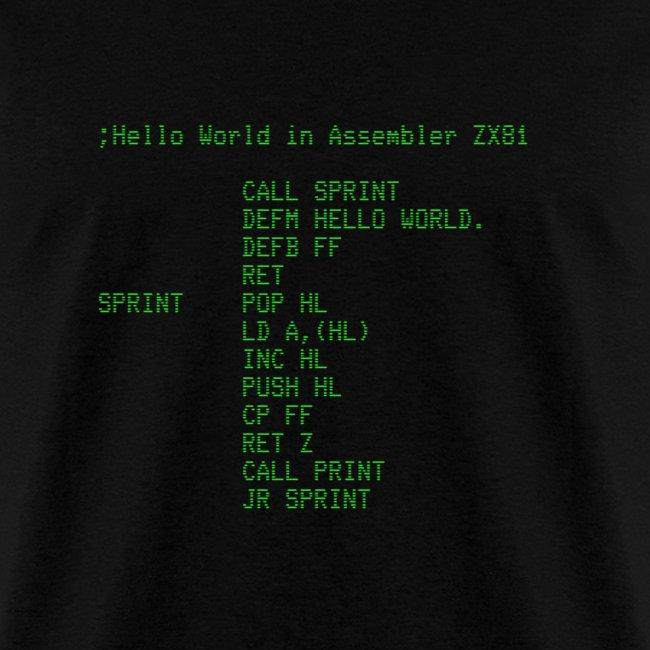 Hello World - Z81 Assembler