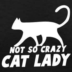 NOT SO CRAZY cat lady Women's T-Shirts - Women's V-Neck T-Shirt
