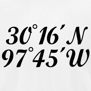 Austin T-Shirt Coordinates - Men's T-Shirt by American Apparel