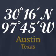 Design ~ Austin Coordinates T-Shirt