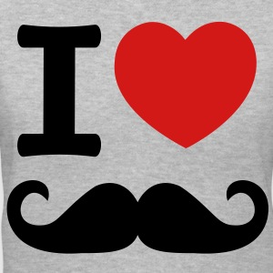 i_love_moustache - Women's V-Neck T-Shirt