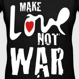 make love not war - Women's V-Neck T-Shirt