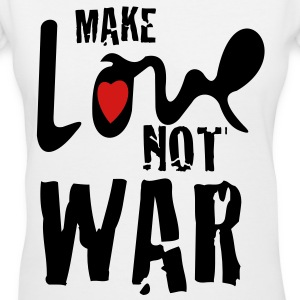 make_love_not_war - Women's V-Neck T-Shirt