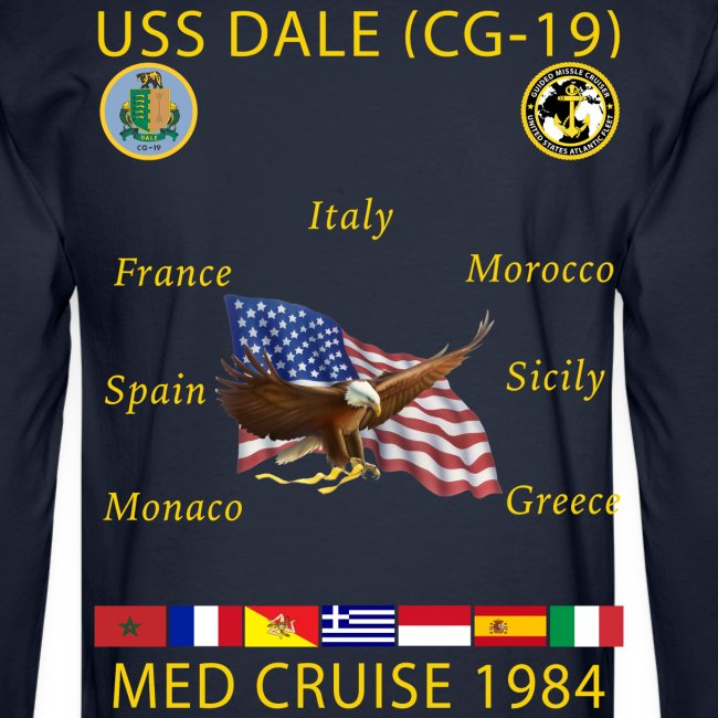 USS DALE CG-19 1984 CRUISE SHIRT - LONG SLEEVE