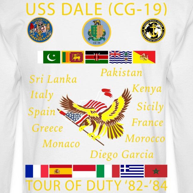 USS DALE CG-19 1982-84 CUSTOM CRUISE SHIRT - LONG SLEEVE