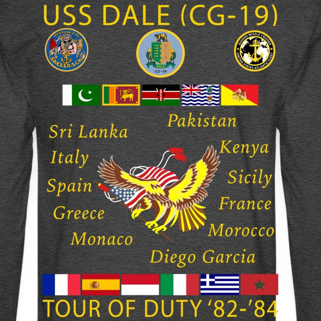 USS DALE CG-19 1982-84 CUSTOM CRUISE SHIRT - LONG SLEEVE