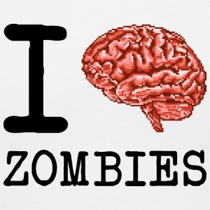 I Brain Zombies - Women's V-Neck T-Shirt