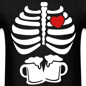 halloween_ribcage_with_heart - Men's T-Shirt