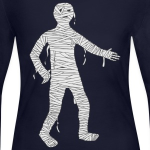 Mummy Cartoon - Women's Long Sleeve Jersey T-Shirt