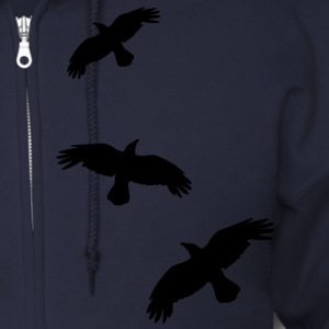 1 color - raven mystical crows flying birds Zip Hoodies/Jackets - Men's Zip Hoodie