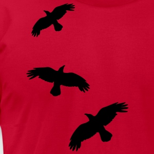 1 color - raven mystical crows flying birds T-Shirts - Men's T-Shirt by American Apparel