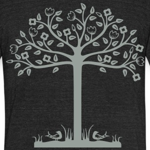 Urban Tree Design - Unisex Tri-Blend T-Shirt
