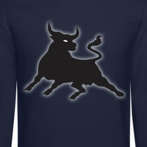 Black Power Bull Long Sleeve Shirts - Crewneck Sweatshirt