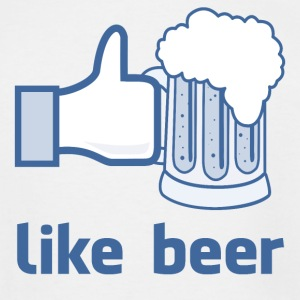 Like Beer Facebook Parody T-Shirt - Men's Tall T-Shirt
