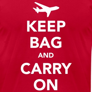 Keep Bag and Carry On T-Shirts - Men's T-Shirt by American Apparel