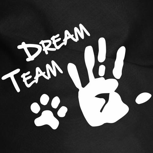 dreamteam paw hand dog