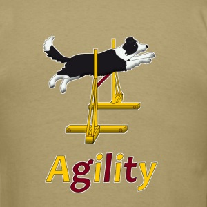 Agility Border Collie jump T-Shirts - Men's T-Shirt