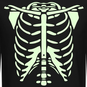Skeleton Body Glow In The Dark Long Sleeve Shirts - Crewneck Sweatshirt