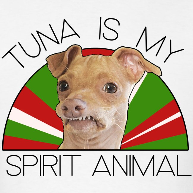 Tuna is my Spirit Animal Men's Tee (Holiday Red)