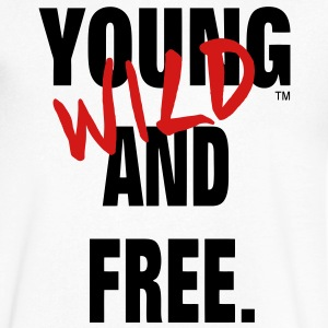 YOUNG WILD AND FREE T-Shirts - Men's V-Neck T-Shirt by Canvas