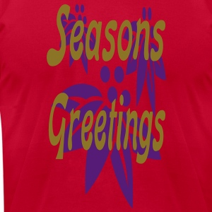 seasons_greetings3 T-Shirts - Men's T-Shirt by American Apparel
