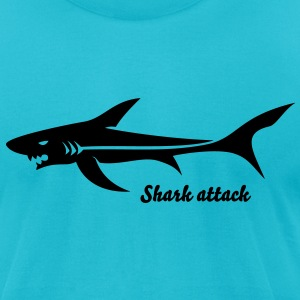 Shark Tribal Tattoo 3 T-Shirts - Men's T-Shirt by American Apparel