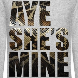Aye She's Mine Long Sleeve Shirts - Crewneck Sweatshirt