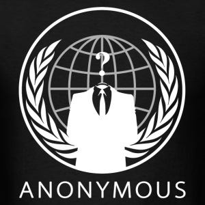 Anonymous 1 White - Men's T-Shirt