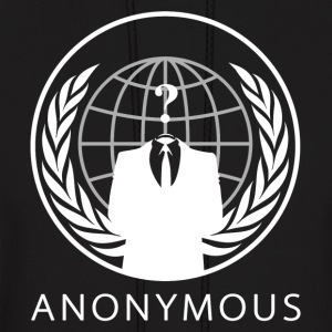 Anonymous 1 White - Men's Hoodie