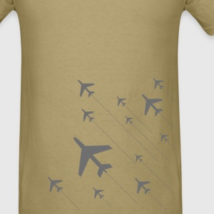 grey airplane take off T-Shirts - Men's T-Shirt