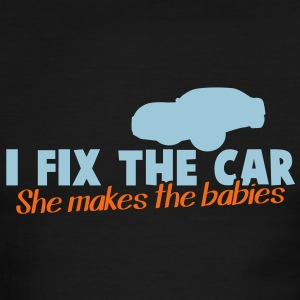 I FIX the CAR- she makes the BABIES dad shirt T-Shirts - Men's Ringer T-Shirt