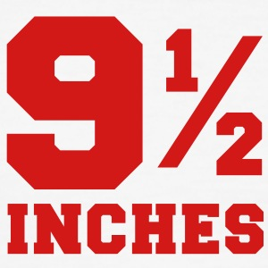 SIZE MATTERS 9 and one half inches 1/2 T-Shirts - Men's Ringer T-Shirt