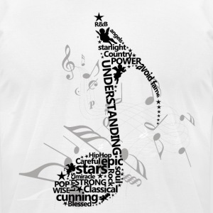 Music Notes T-Shirts - Men's T-Shirt by American Apparel