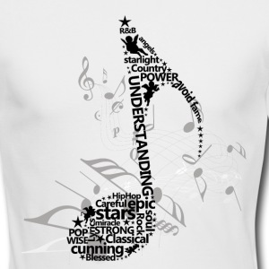 Music Notes Long Sleeve Shirts - Men's Long Sleeve T-Shirt by Next Level