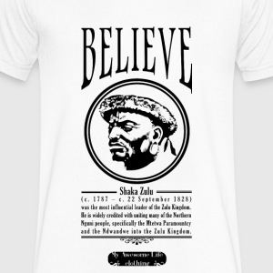 Belive - Shaka Zulu T-Shirts - Men's V-Neck T-Shirt by Canvas