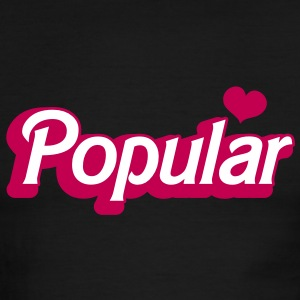 POPULAR! with cute heart funky sexy font T-Shirts - Men's Ringer T-Shirt