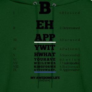 Be Happy With What You Have Hoodies - Men's Hoodie